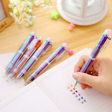 Multi-color 6 in 1 Colors Ballpoint Pen Ball Point Pens Pencil Stationery Supply