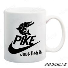 Gift Tea Coffee mugs JUST FISH IT Funny Fishing sea fishing carp pike funny joke