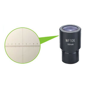 Reticle Widefield 10X 23.2mm Eyepiece for Compound Biological Microscope