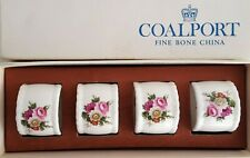 Vtg. Coalport LUDLOW Set of 4 Bone China Napkin Rings Excellent Made in England