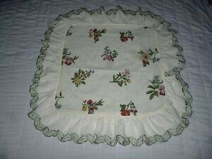 Vintage Dorma Garlandia Floral Cushion Cover