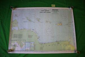 Venezuala Cabo Codera &Cabo San Roman 35.5x25.25 Vintage 1993 Nautical Chart/Map