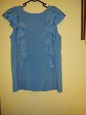 Size 12 F&F Blue Sleeveless Ruffle Top