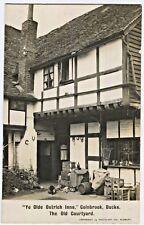 "Rppc ""Ye Olde Ostrich Inne,"" Colnbrook, Bucks. The Old Courtyard Vtg Postcard"