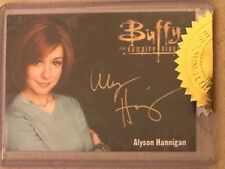 BUFFY - ULTIMATE COLLECTOR'S SET 3: GOLD AUTOGRAPH CARD: ALYSON HANNIGAN