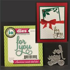 Impression Obsession dies FOR YOU words cutting die DIE383-C Christmas,Birthday