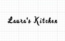 Set of 2 Your name vinyl decal, for kitchenaid mixer approx 8x1, free shipping