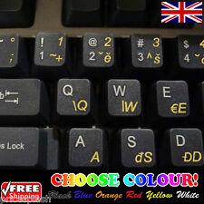 Czech Transparent Keyboard Stickers for Laptop Computer Notebook - 6 Colours