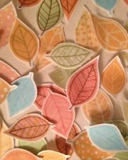 Pretty Fall Leaves, Pastels - Iron On Fabric Appliques