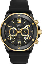 Bulova Marine Star Collection Chronograph Steel Mens Watch 98B278