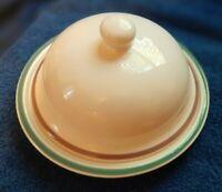 Vintage Pfaltzgraff Juniper Pattern Large 10.5'' Mixing Bowl & covered butter