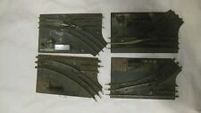 Set Of 4 Vintage Marx Turn Switches 027 O Gauge Train Track ALL FOR PARTS  tr139