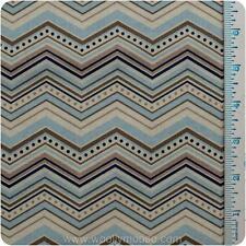 HALF YARD Chevrons BLUE Black CREAM One for the Boys RILEY BLAKE Quilt Fabric
