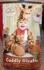 New! Baby Boy/Girl Cuddly Giraffe 4 pc Costume (Halloween; Play!) - Size 6-12 mo
