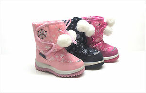 BRAND NEW TODDLER GIRL'S WINTER SNOW BOOTS SIZE 5 - 11