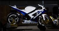 Verkleidung Lacksatz Fairing Bodywork Cowl Für Suzuki GSX-R1000 05-06 Blau Weiß
