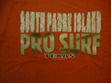 South Padre Island Pro Surf Texas Beach Vacation Souvenir Orange T Shirt S