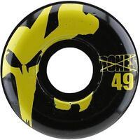 New Bones 100's Icon Black/Yellow Skateboard Wheels 49mm 100a (Set of 4)