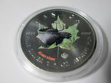 $5 2014 Canadian Wildlife 1 oz Colored Silver Maple Leaf Series - Moose