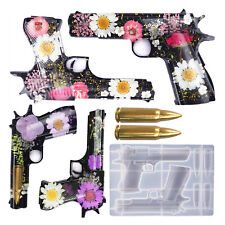 DIY Epoxy Resin Silicone Molds Gun Kit Mould Casting Jewelry Making Craft Set