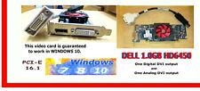 DELL WINDOWS-10 DUAL Monitor PCI-e 16 1.0 GB Video Card. UPGRADEABLE  SFF 2x DVI