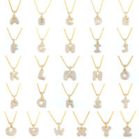 26 Letters Necklaces Gold Chain Pendant Women Girl Fashion Jewelry Gifts *DC