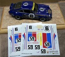 1/24 PORSCHE 911 RSR #6 SUNOCO #59 WINNER 73 DAYTONA DECALS PRINTED AT CARTOGRAF