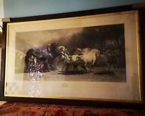Thomas LANDSEER after Rosa BONHEURThe Horse Fair, Paris 1857 original print