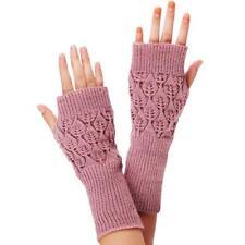 Fashion Unisex Women Ladies Fingerless Gloves Winter Warm Soft Knitted Mittens