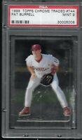 1999 Topps Chrome Traded Pat Burrell Philadelphia Phillies #44 PSA 9 MINT RC