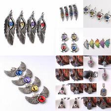 Stainless Steel Pentagram Devil Skull Evil Eye Pendant Necklace Men Jewelry Gift
