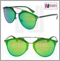 66897104138c CHRISTIAN DIOR REFLECTED PRISM Ruthenium Green Silver Mirrored Sunglasses  Unisex