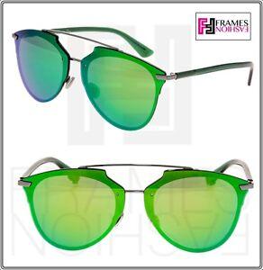 CHRISTIAN DIOR REFLECTED PRISM Ruthenium Green Silver Mirrored Sunglasses Unisex