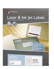 """Maco ML-3000 Address Labels 1"""" x 2-5/8 --30 to The Page 15,000 Labels"""