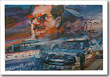 """REDUCED Dale Earnhardt 34""""x24"""" signed by artist George Bartell"""