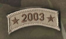US WAR ON TERROR COMMEMORATIVE TROPHY VELCRO DESERT CAMO TAB SINCE 9-11: 2003