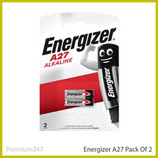 2 x Energizer A27 12V Battery 27A MN27 GP27A E27A EL812 Fast & Free Delivery