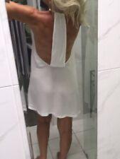 Zara Dress ? White T Back Stunning Size 10
