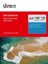 100 Sheets A4 Self Adhesive Photo Paper Sticky Inkjet Paper 135Gsm Uinkit Print