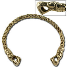 Ancient Roman Brass Twisted Pattern Torc Necklace Arm Bangle