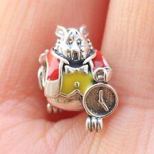 925 sterling silver Alice In Wonderland White Rabbit Charm Fit European Bracelet