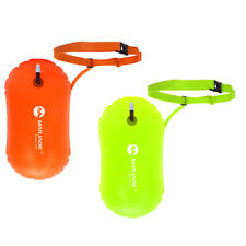 2Pcs Inflatable Swim Buoy Float Waterproof Dry Bag for Open Water Swimming