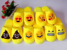 Fun Winter Emoji Cotton Slipper Women Men Warm Cartoon Home Shoes Comfy Slip On