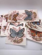 Vintage Lot of Cerami Corner Ceramic Decals Transfers Butterflies New Open #1