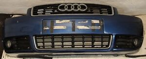 2000-2006 AUDI A4 B6 CABRIOLET FRONT BUMPER IN BLUE COMPLETE GRILLS AND FOG LAMP