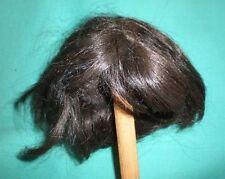 """Antique Doll Perruque/Cheveux 9.5"""" à 10"""" Brun Foncé/Allemagne"""