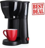Single Serve Coffee Maker Cup Machine Pod Size Compact Green Brewer Pot.