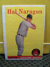 1958 Topps # 22 HAL NARAGON ..** read BELOW **** INDIANS*** .RB-6018