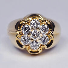 14k gold 7 tiny diamond pieces of exquisite ladies wedding engagement ring gifts