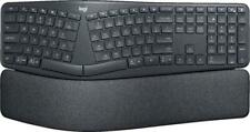 Logitech Ergo K860 Wireless Bluetooth or USB Ergonomic Keyboard with Wrist Rest